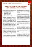 SUR LES QUESTIONS RELATIVES AU TRAVAIL LE FN EST DANS LE CAMP DU CAPITAL