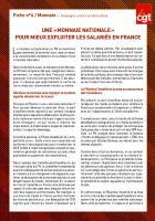 UNE « MONNAIE NATIONALE » POUR MIEUX EXPLOITER LES SALARIÉS EN FRANCE