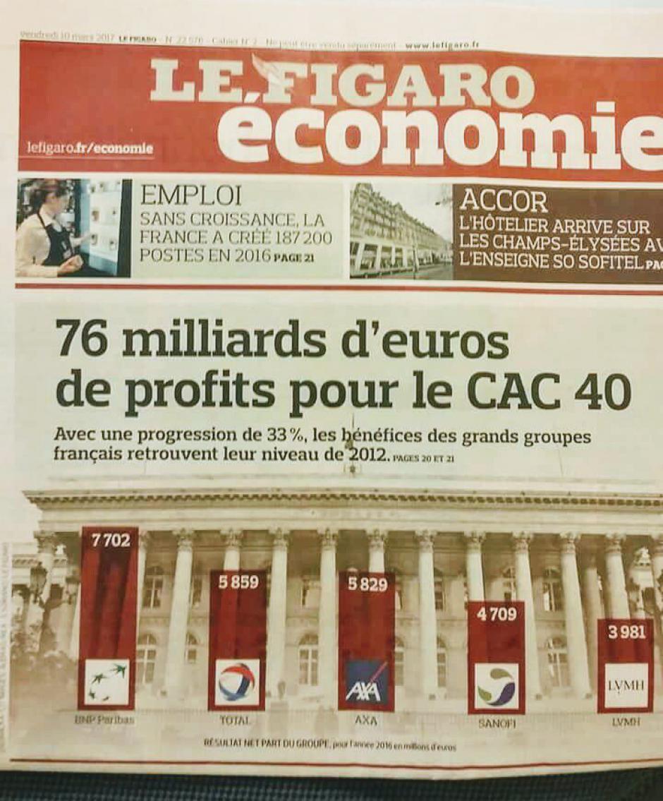 76 milliards d'euros de profits pour le CAC40