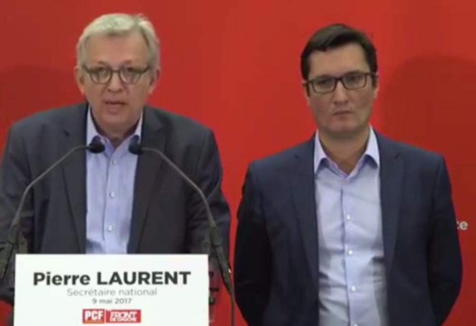9 mai 2017. Conférence de presse de Pierre Laurent