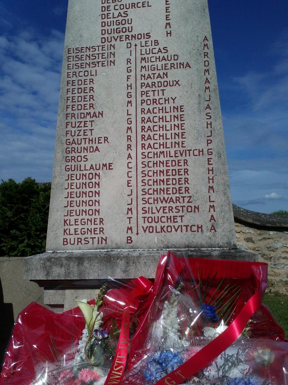 Le PCF a rendu hommage le 8 mai à ses militants  qui ont accepté tant de sacrifices pour libérer la France